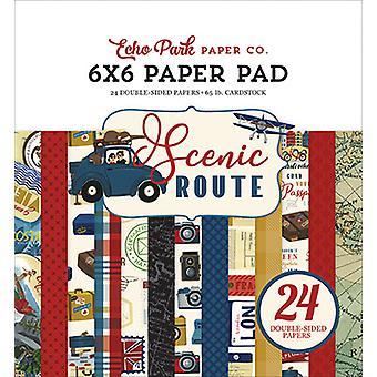 Echo Park luonnonkaunis reitti 6x6 tuuman paperityyny