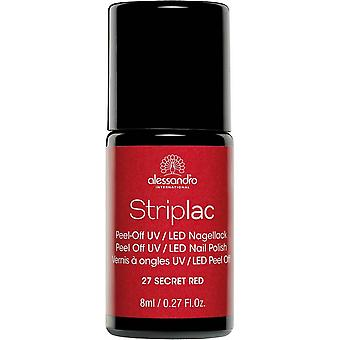StripLAC Peel Off UV LED Nail Polish - Secret Red 8ml (27)