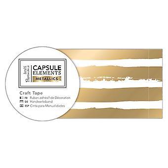 ペーパーマニア カプセルエレメント メタリッククラフトテープ ゴールドストライプ(3m) (PMA 462222)