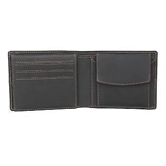 Primehide Mens Portefeuille en cuir RFID Blocage Porte-carte Notecase Gents 8001