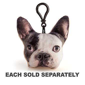 French Bulldog Plush Keychain with Sound