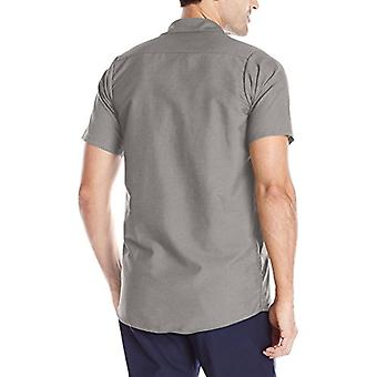 Red Kap Men's Size Industrial Work Shirt, Regular Fit, Short Sleeve, Grey, X-...