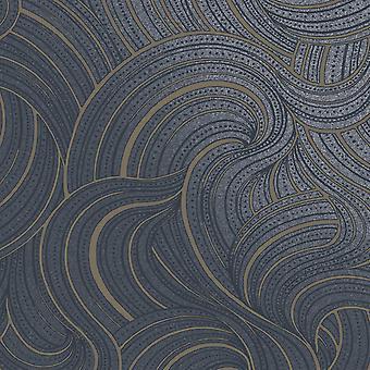 Aurora Swirl Tapete Navy Holden 65723