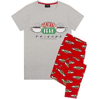 Ystävät Naisten pyjama | Central Perk Coffee House Logo PJs | Naisten Yöasut T-paita & Legging Set