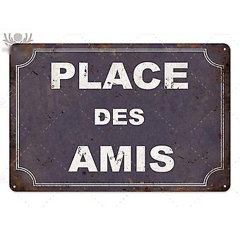 Plaque Metal Vintage French Retro Metal Tin Sign For Bar, Pub, Club Wall Decor