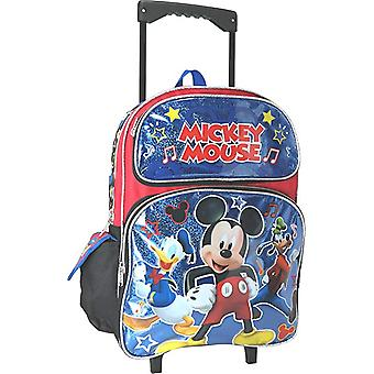 Large Rolling Backpack - Disney - Mickey Mouse Shiny Blue Group 002152