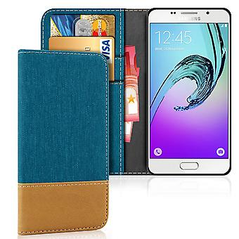 Samsung Galaxy A3 (2016) Shell Magnet Shockproof Protection Phone Leatherette Denim