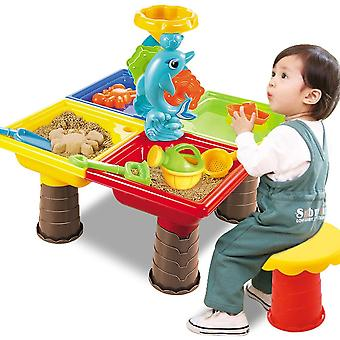 Summer Desk Digging Pit For Children Bucket- Al aire libre Niños Seaside Beach Toy Set Water Sandglass Play Sand Table Garden