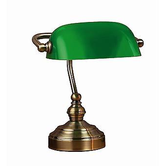 1 Light Banker Table Lamp Oxide, E14