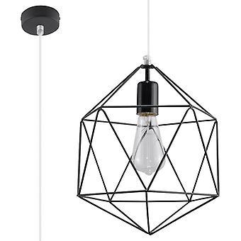 Sollux GASPARE - 1 licht gekooide plafondhanger Zwart, E27
