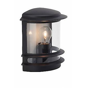 LUZ BRILLANTE Lámpara de Pared al Aire Libre de Hollywood Negro 1x A60, E27, 60W, adecuado para lámparas normales (no incluidas) Escala