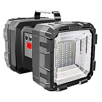 Super Bright Double Head Led Flashlight Searchlight Solar Portable Work Light
