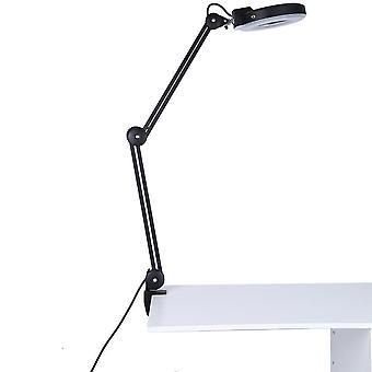 5x forstørrelsesglass belysning lampe med klemme 6000-6500k