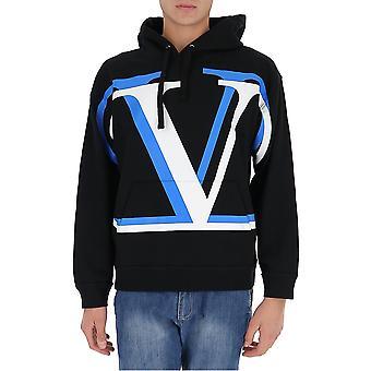 Valentino Uv3mf14j6k5ku7 Herren's schwarze Baumwolle Sweatshirt