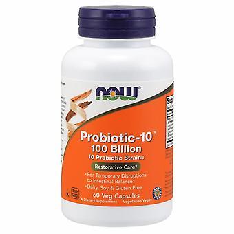 Теперь Продукты Пробиотик-10, 100 миллиардов, 60 Vegcaps