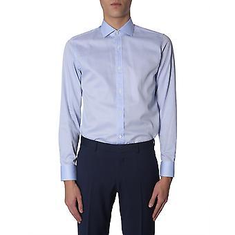 Z Zegna 9dfedi505507g Men's Light Blue Cotton Shirt