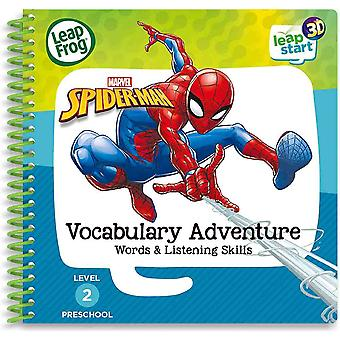 Leapfrog Spiderman vocabulary book 20 replayable activities with a LeapStart