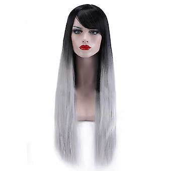 Grey Gradient Ramp Cap Synthetic Wig