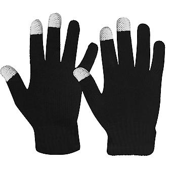 Unisex Touch Screen Gloves Fluid Tactile Retained Tactile Fluidity Black Knit
