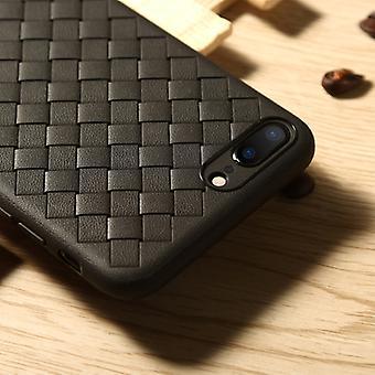 Benks voor iPhone 8 Plus en 7 Plus TPU Breier oppervlak beschermhoeshoes (zwart)