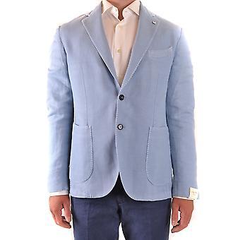L.b.m. Ezbc215031 Men's Light Blue Linen Blazer