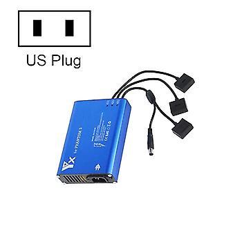 Chargeur intelligent de contrôleur de batterie de 4 en 1 parallel power hub pour DJI Phantom 3 Standard SE FPV Drone, Plug Type:US Plug