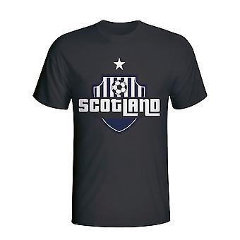 スコットランドの国のロゴ t シャツ (ブラック)