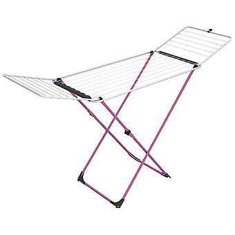Vileda Airer Indoor Table vêtements maiden Universal Folding 180 x 55cm Rose Blanc