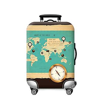 Elastic Printed Luggage Cover Compass