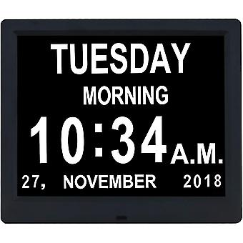 TMC 9 Inch IPS Digital Calendar Day Clocks-8 Alarms