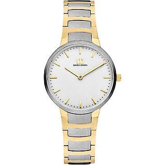 Deens Design Faro Horloge - Zilver/Goud/Wit