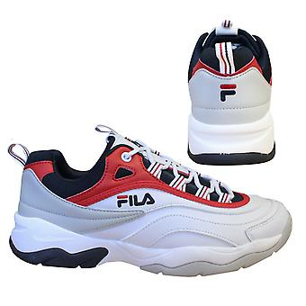 Fila Ray Cb Low White Navy Lace Up Casual Sports Mens Trainers 1010723 150 B14B