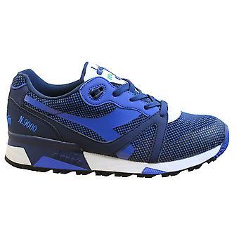 Diadora N9000 Arrowhead Mens Trainers Blue Textile Lace Up Casual Shoes 60024