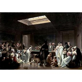 A Game of Billiards Poster Print by  Louis Leopold Boilly