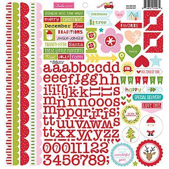 Bella BLVD Fa La La Doohickey 12x12 Inch Cardstock Stickers