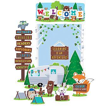 Conjunto de tablones de anuncios de bienvenida de Woodland Friends Woodland