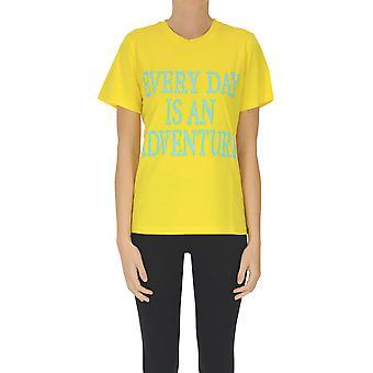 Alberta Ferretti Ezgl095076 Frauen's gelbe Baumwolle T-shirt