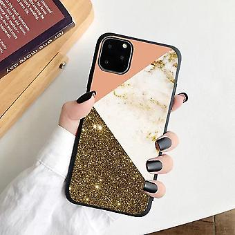 iPhone 12, 12 Pro & 12 Pro Max Shell glitter pink gold marble