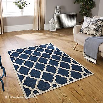 Enrejado de moda azul alfombra