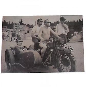 Larrini Steve Mcqueen The Great Escape Movie Set (bike And Sidecar) Print