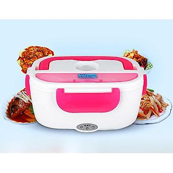 Portable Heated Electric Lunch Box Food Warmer Steel Food Home Stainless Bento