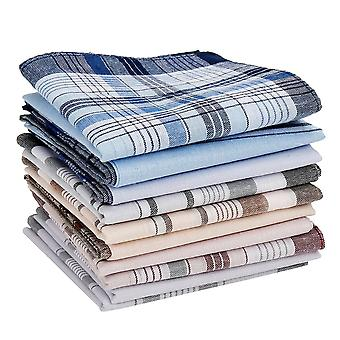 Multicolor Plaid Stripe Pocket Voor Bruiloft Party Business Chest Towel (10 Stuks