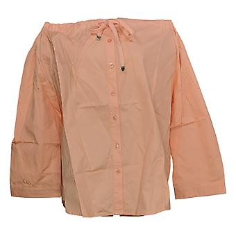 Linea de Louis Dell'Olio Women's Plus Blusa Campesina Naranja A306539