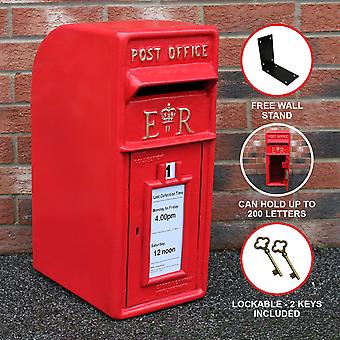 Royal Mail Post Box Cast Iron Pillar ER Office Letter Mail Wall Mount Postal