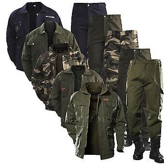 bomull militær jakke cargo bukser sett og taktisk kamuflasje multicam kamp