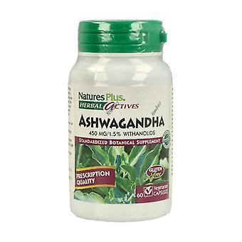 Ashwaganda Root 450Mg Herbal Actives 60 capsules
