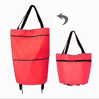 Shopping Trolley Bag Shopping Organizer Draagbare Tas Vouwen Shopping Bag On Wheels Bag Koop Groenten Eten