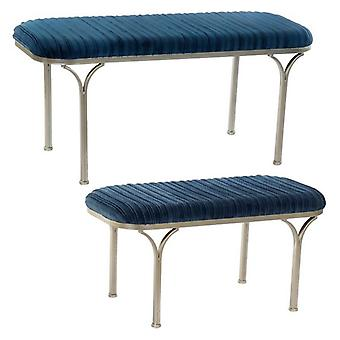 Bench Dekodonia Chic Polyester Metal (2 pcs)