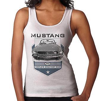 Ford Mustang Världar Störst Pappa Kvinnor & Väst