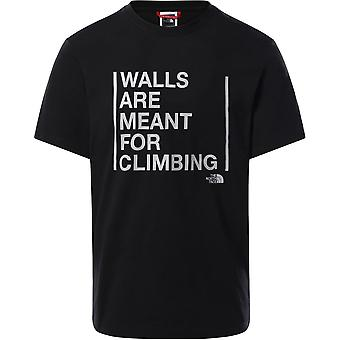 The North Face Walls Are Meant For Climbing T93S3S0GY universal all year men t-shirt